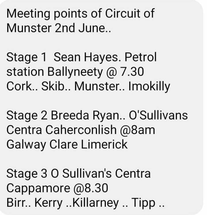 Marshal Meeting points