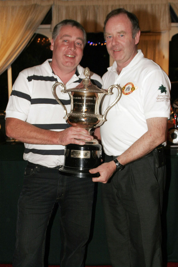 Pa Ryan receiving the Brian Sparling memorial trophy